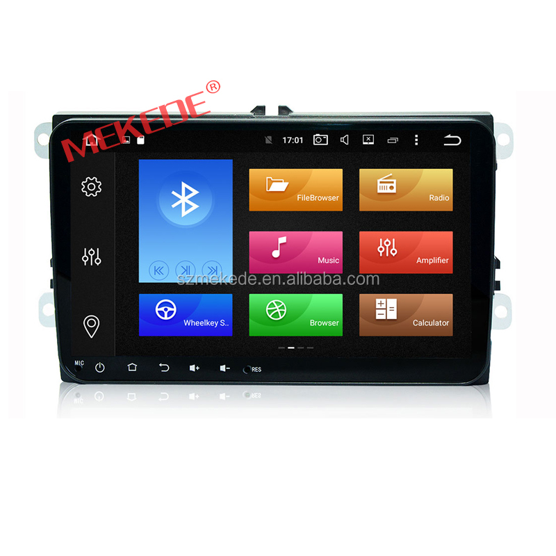 9 inch android 6.0 for vw car dvd player with full touch screen 8core car radio bluetooth support GPS navigation 4G wifi 32GROM