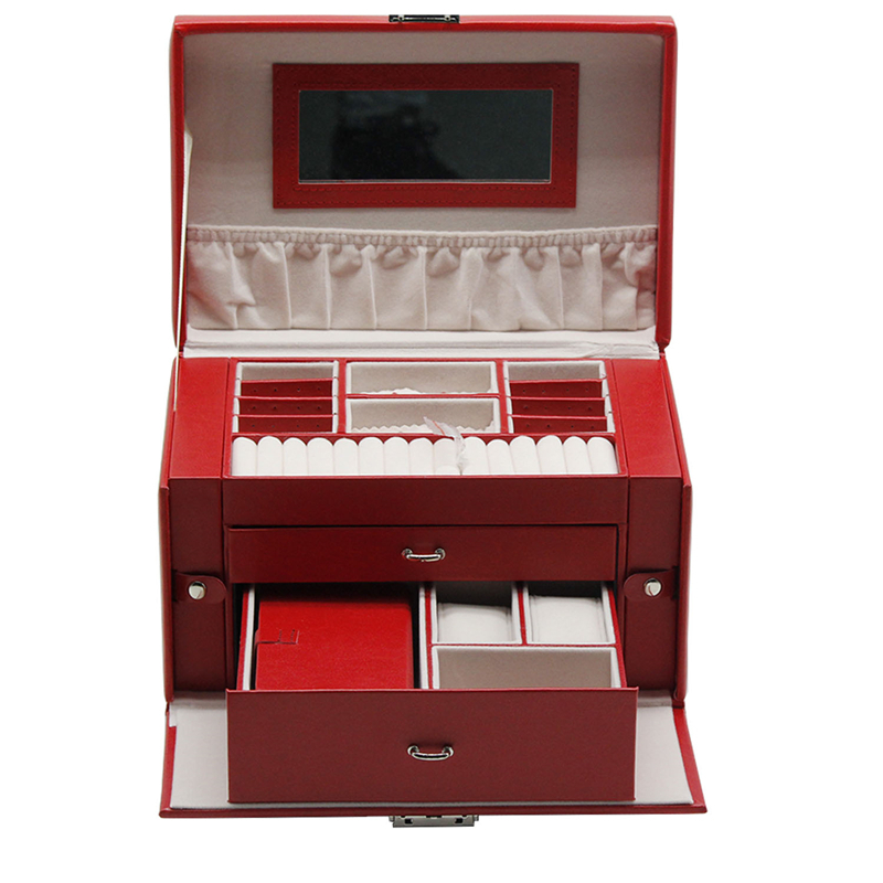 Wholesale cheap price travel case window jewelry box