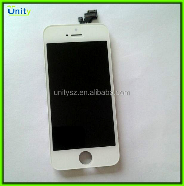High quality for iPhone 5 LCD display touch screen assembly, LCD for iPhone 5 LCD complete