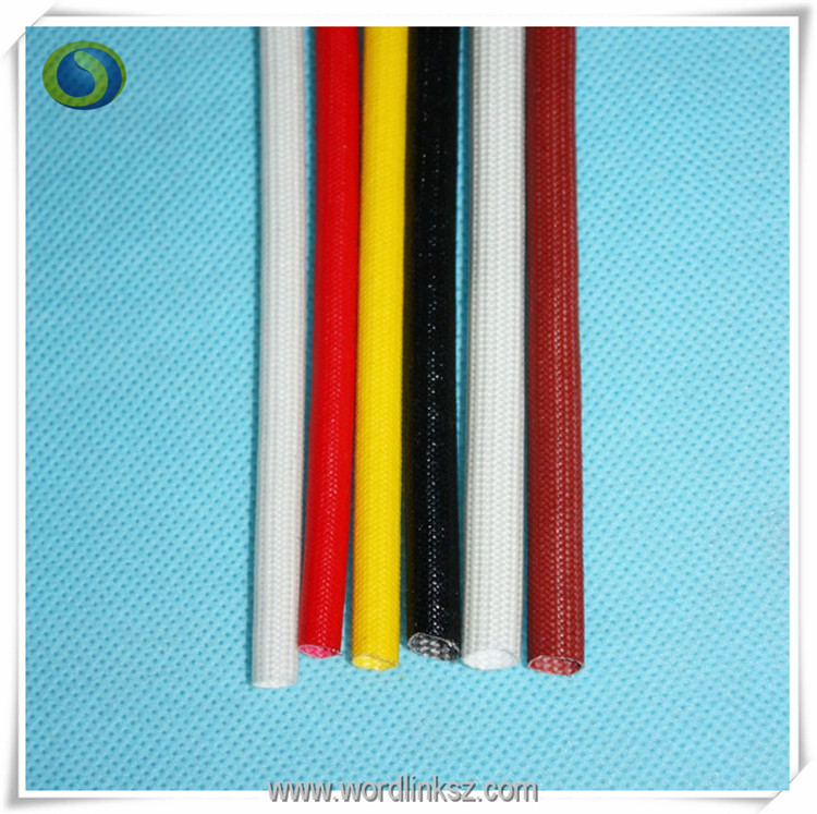 Anti-aging insulation silicone coated braided fiberglass sleeve