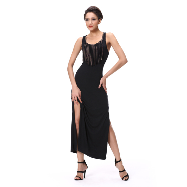 long dress sides slit Chinese clothing online shop