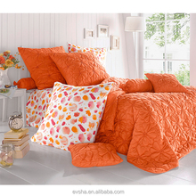 embroidery design bedspread,Orange flower design bedspreads,polyester christmas king size fitted quilted bedspread