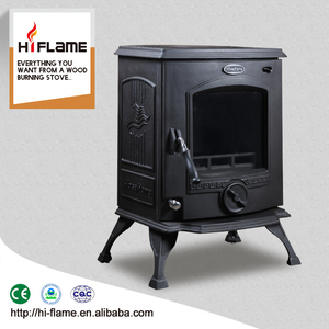 China Factory Directly Sale Real Fire Cast Iron Wood Burning Stove with Water Jacket and Wood Boiler HF317B