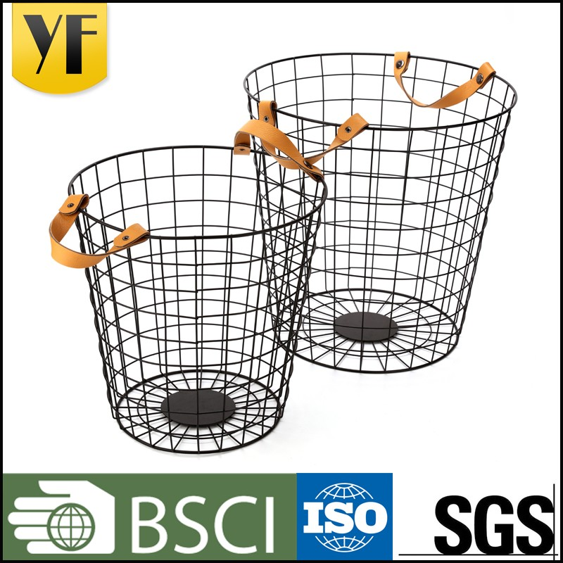 Home use stainless steel wire mesh kitchen cooking basket and golf ball wire basket