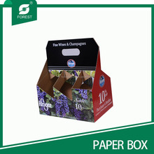 6 PACK WINE PACKAGING BOX WINE BOTTLE CARRIER