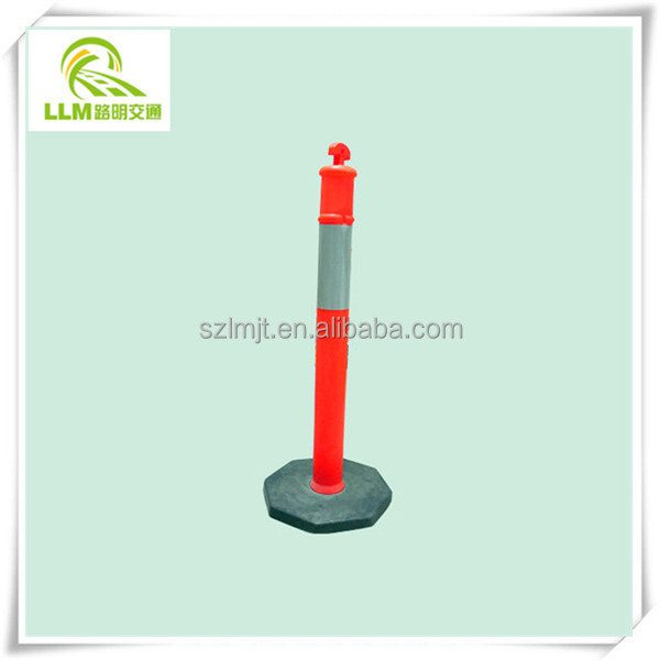 Best price traffic warning flexible PU bollard delineator post
