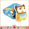 China Factory Animal Printed Cute Royal Night Owl 100% Polyester Coral Fleece Micro Plush Chidren Frocks Design Blanket