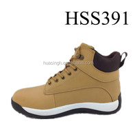 LH,nubuck leather rubber sole over a long period of time working outdoors safety shoes