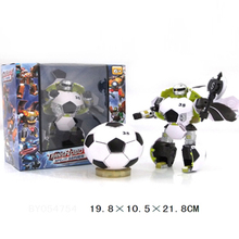 Funny football shape transforming robot toy for sale