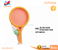 Outdoor sport game high quality children ABS plastic big head tennis with double ball kids yellow tennis racket set