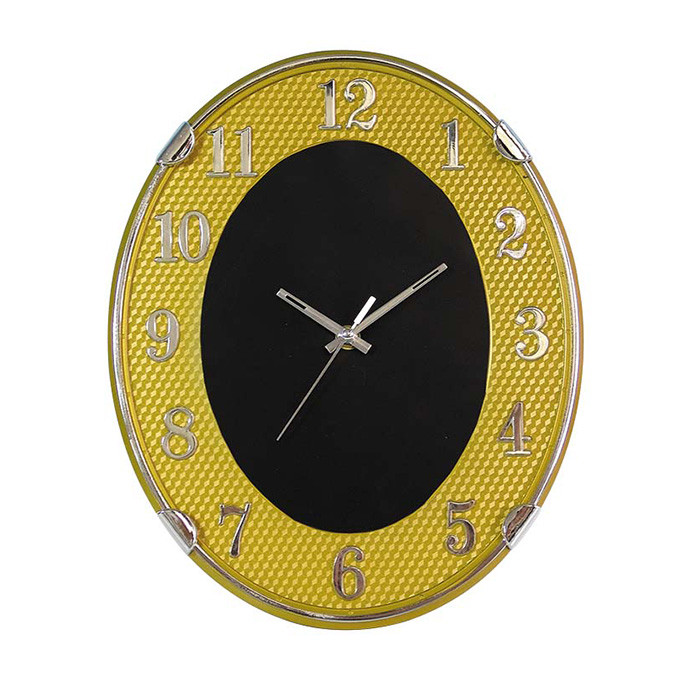 hot sale creative color golden numbers plastic wall clock