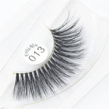 New design retail sable mink fur false eyelash with high quality