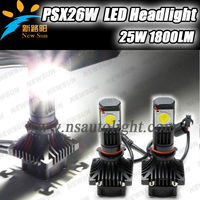 Super Bright cree led motorcycle headlight,psx26w led car headlight 50w 3600lm,car headlight led 50w universal use