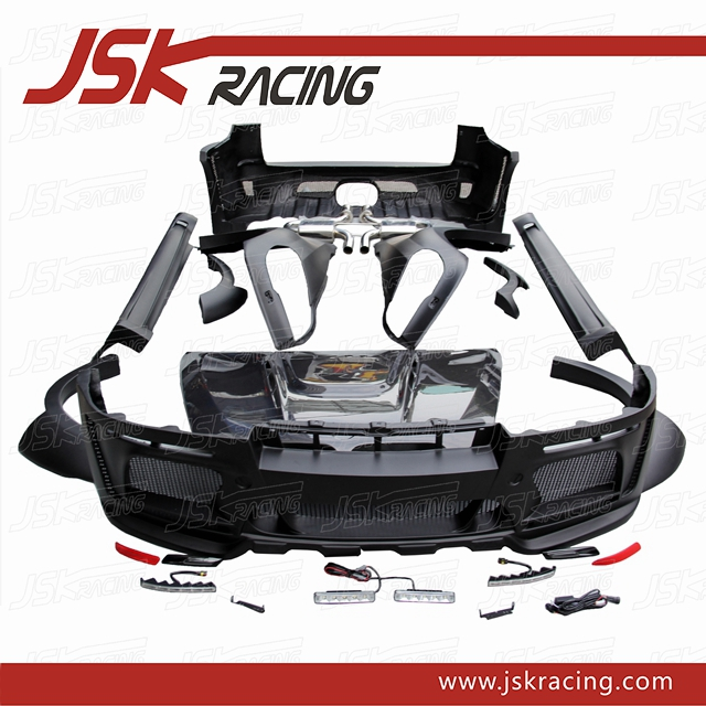 H STYLE WIDE GLASS FIBER FRP BODY KIT WITH CARBON FIBER HOOD FOR BMW X SERIES X5 E70