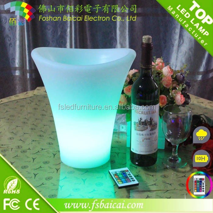 2017Acrylic LED Light Champagne Carlsberg Ice Bucket For Party