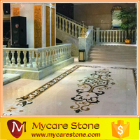 Lobby marble pattern home marble floor design