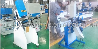 UPVC windows doors fabrication machine with double head miter saws