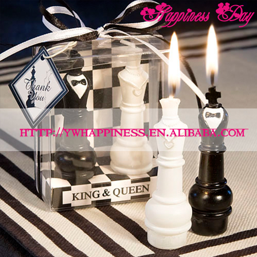 New King and Queen Chess Wedding Party Favors Gifts Candles for Guest Souvenirs Bridal Shower Supplies Decoration for Tables