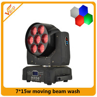 7pcs 15w DXM zoom wash moving head led moving head , zoom led wash light