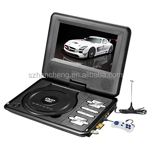 2016 HOT SALE portable dvd player with digital tv tuner