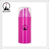 50ml 80ml 100ml Cosmetic Packaging Bottle Rose Colored PP Plastic Airless Bottle