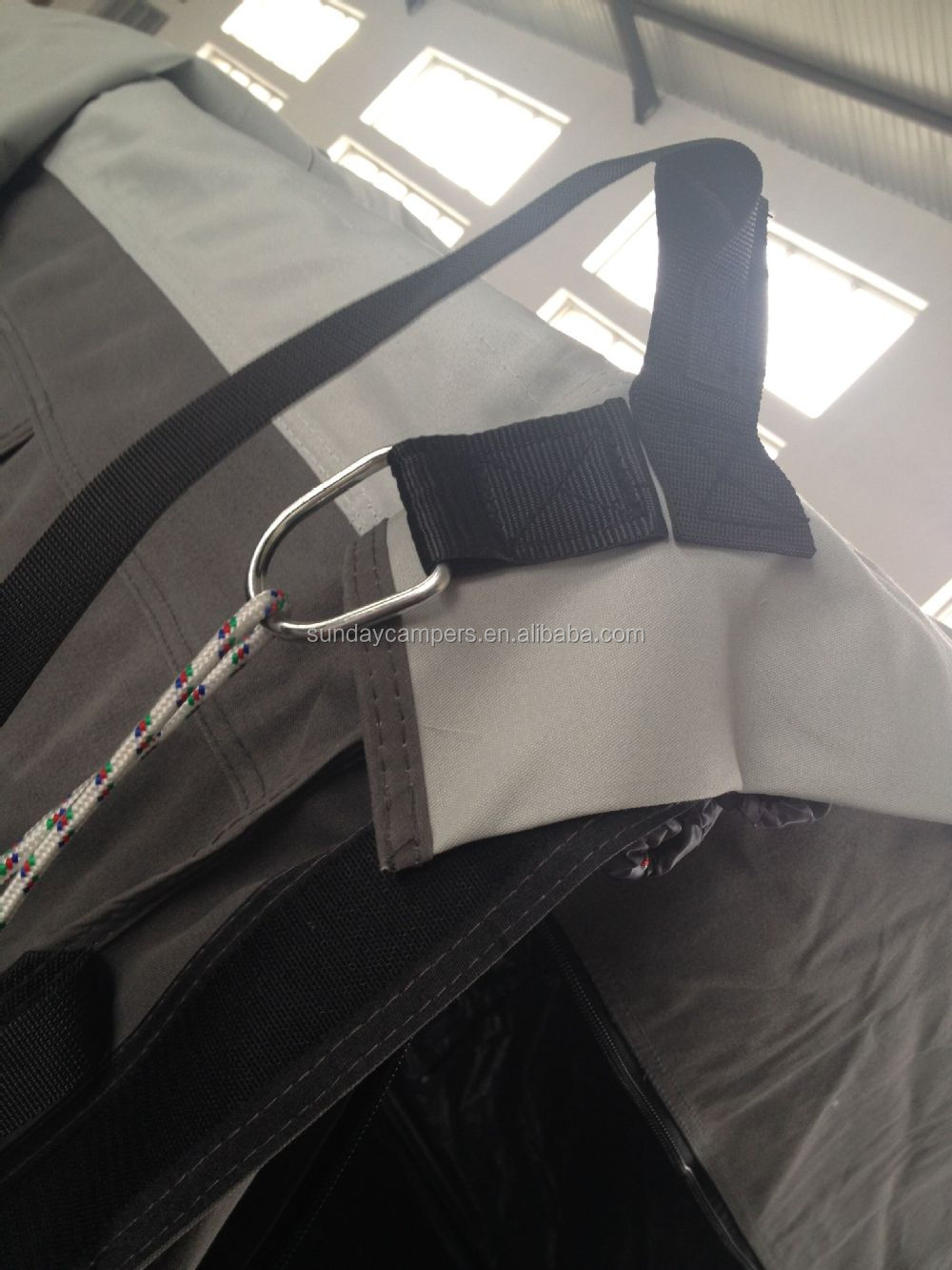 guide ropes on a tent
