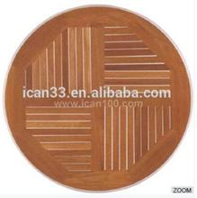 Fashion design teak wood comercial round table top(TT-01)