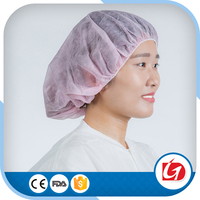 New Technology Round Disposable PP Non Woven Bouffant Cap