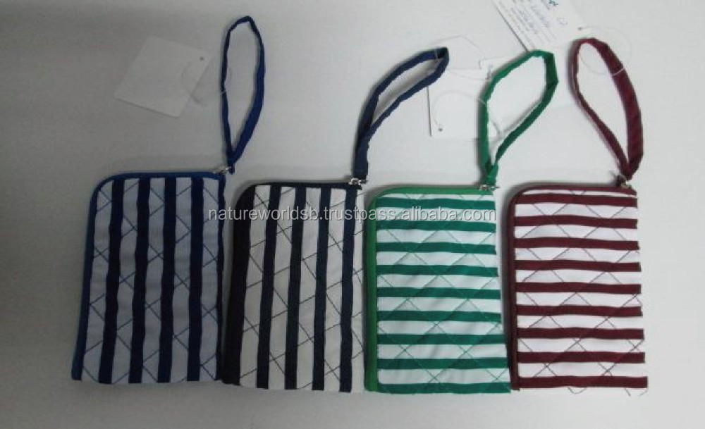 2014 Fashion Stripe Cotton Cell Phone Pouch