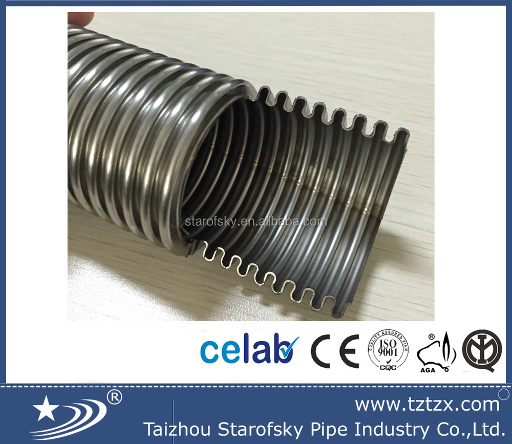 304 316L stainless steel bellows annual spiral corrugated tube pipe