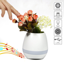 2017 Smart Touch Plant Piano Colorful Night Light Bluetooth Speaker Wireless Music Flower Pot
