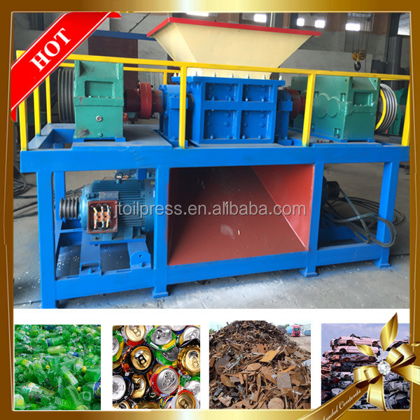 India hot sale low price recycling soda can bottle steel aluminum tin waste plastic mini shredder machine