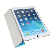 2014 new design pu leather case for ipad air smart cover for ipad air