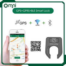 Omni bicycle Electronic lock with GPS GPRS alarming sensor for public stationless bike sharing system