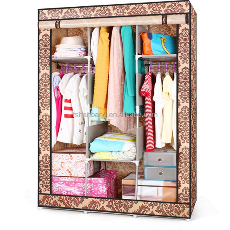 pas cher grand portable placard organisateur de stockage armoire v tements rack autres meubles. Black Bedroom Furniture Sets. Home Design Ideas