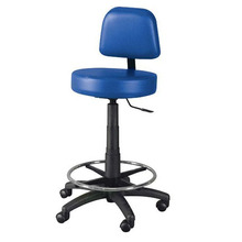 School lab furniture accessory leather seat metal leg lab stool chair