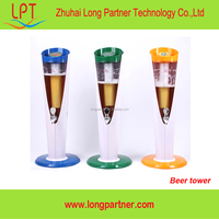 China supplier plastic LED lighted portable 3 litres beer tower on promotion