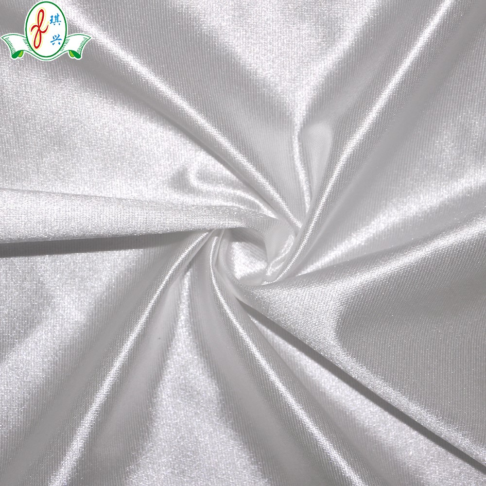 92 nylon 8 spandex shiny stretch satin fabric made to order in any color or pattern