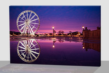 NICE !!!novelty design of Purple Sky Wheel led printing canvas