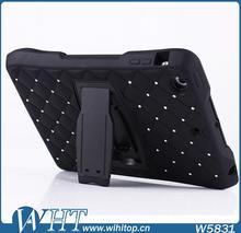With Stand Combo Case for iPad Mini / Mini 2 Silicone Plastic 2in1 Hybrid Case