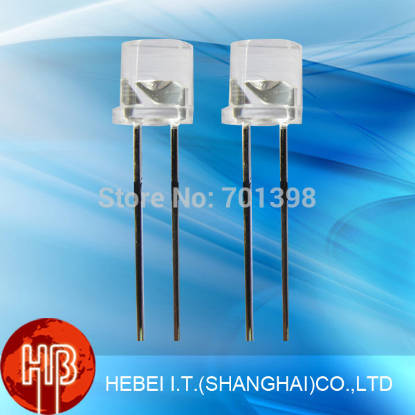 Throgh Hole 5mm Flat Top LED Lighting Diodes