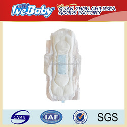 good quality OEM day and night tissue breathable ladies sanitary pads