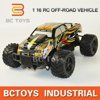 4CH high-speed car 1:16 hydraulic truck rc monster truck toy with 20km/h speed mode.