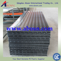 Street protection plates/black hdpe plastic temporary ground track/roadway mats