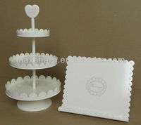 Decorative Cake Stand and Cook Book Stand Set