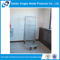 warehouse galvanized wire foldable trolley