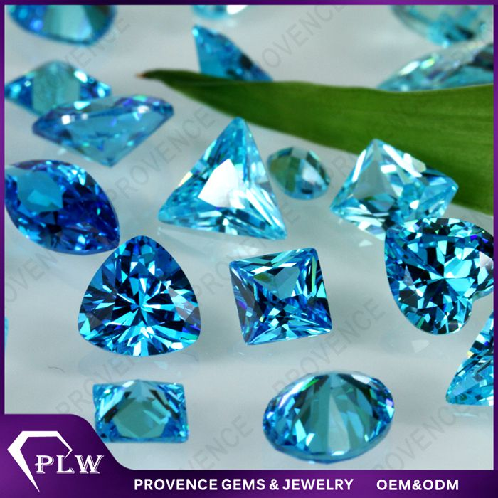 Hot Sale Princess Cut Loose Gemstone Synthetic Blue Spinel for Jewelry
