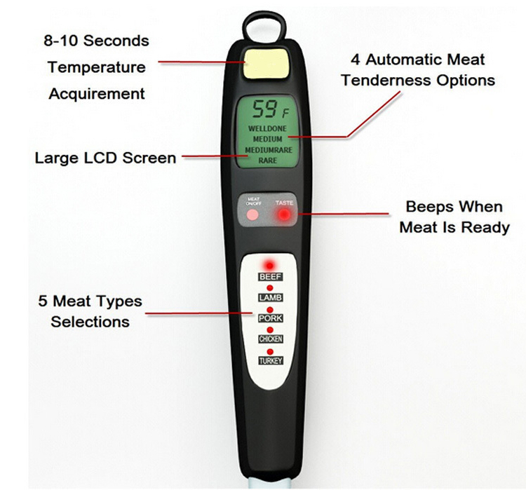 wholesale  LCD bbq meat thermometer digital food thermometer bbq