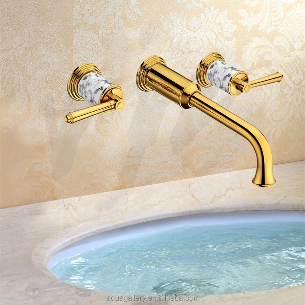 Double Handle Wall Mounted Basin Water Mixer
