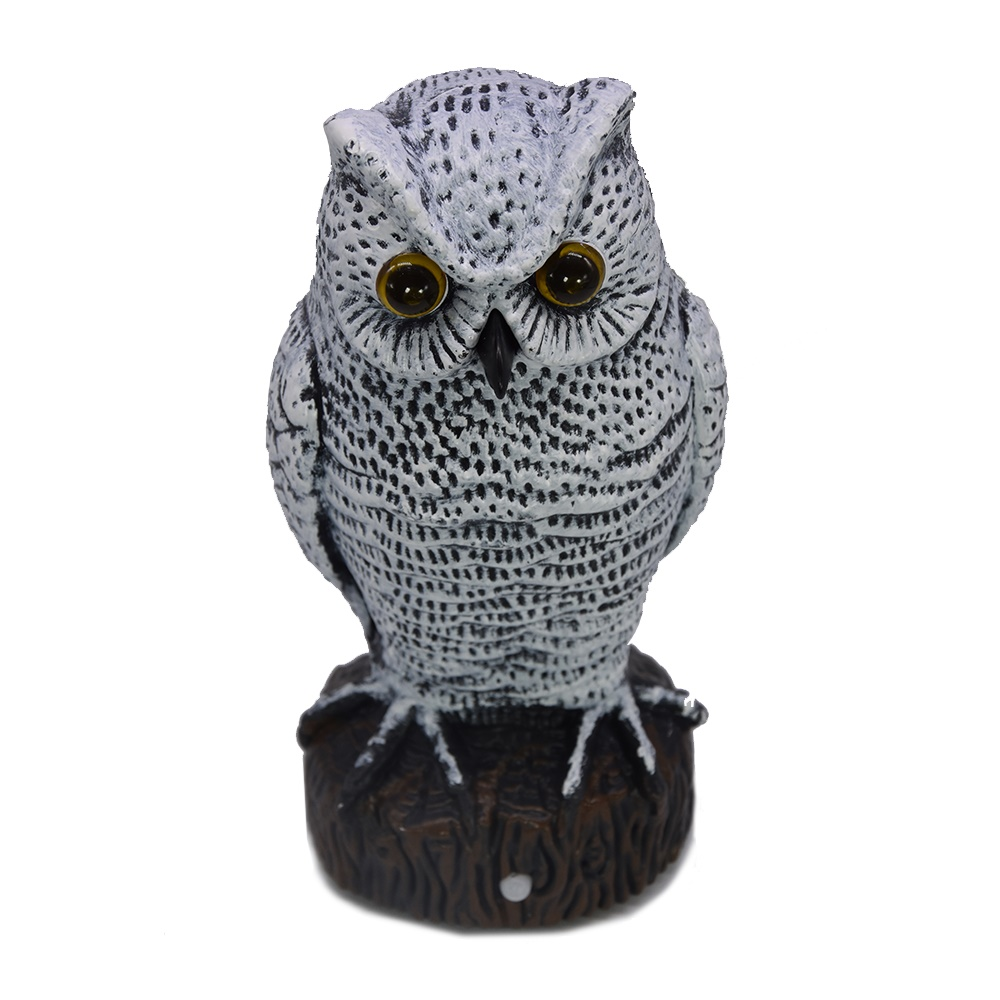 Electric small owl bird scarer